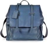 The Bridge Ascott Blue Leather Backpack