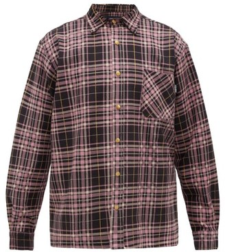 Noon Goons Plaid Denim Shirt - Black