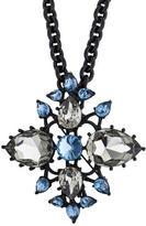 Oscar de la Renta Convertible Crystal Brooch Pendant Necklace
