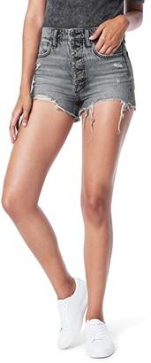 Joe's Jeans Kinsley Shorts Exposed Button Fly Fray Hem in Perilla (Perilla) Women's Shorts