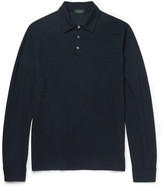 Incotex Slim-Fit Knitted Cotton Polo Shirt