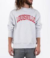 Champion Men's Louisville Cardinals College Weave Crew Sweatshirt