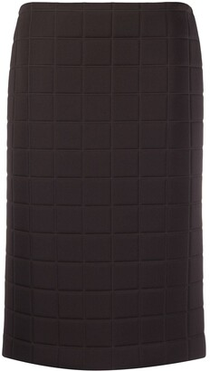 Bottega Veneta Quilted Straight Skirt