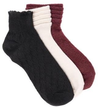 Muk Luks Muk Luk Crew Tier Sock, 3pk