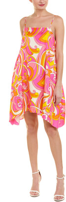 Julie Brown Silk Shift Dress