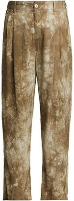 Raquel Allegra Tie-Dye Pleated Pants