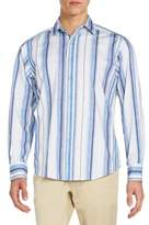 Robert Graham Classic-Fit Beauly Striped Cotton Sportshirt