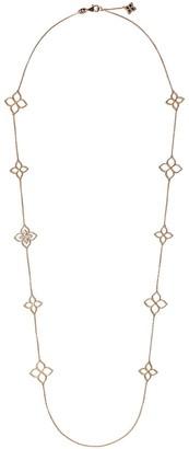 Roberto Coin 18kt rose gold Princess Flower diamond necklace