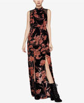 BCBGeneration Velvet Burnout Maxi Dress