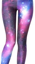 VOULOIR Womens Galaxy Star Printed High Waist Leggings Pants (STYLE)