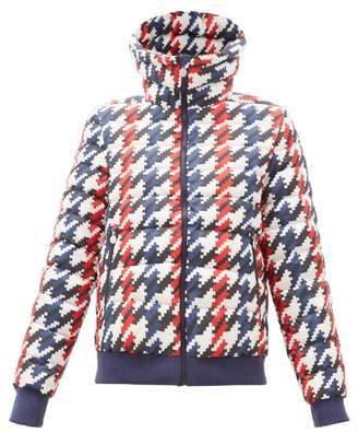 Perfect Moment Queenie Pixel Print Down Filled Ski Jacket - Womens - Navy Multi
