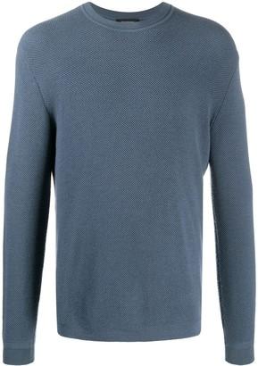 Ermenegildo Zegna Cashmere-Wool Mix Knit Sweatshirt