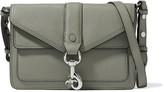 Rebecca Minkoff Hudson Moto mini textured-leather shoulder bag