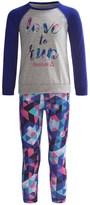 Reebok Love to Run Shirt and Leggings Set - 2-Piece, Long Sleeve (For Little Girls)