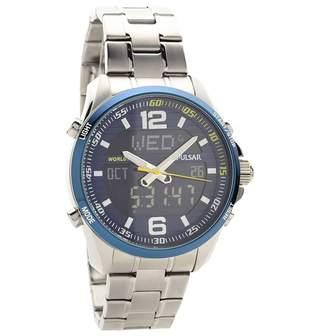 Pulsar Unisex Analogue Quartz Watch with Stainless Steel Plated Bracelet - PZ4003X1