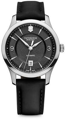 Victorinox Alliance Stainless Steel Leather-Strap Watch