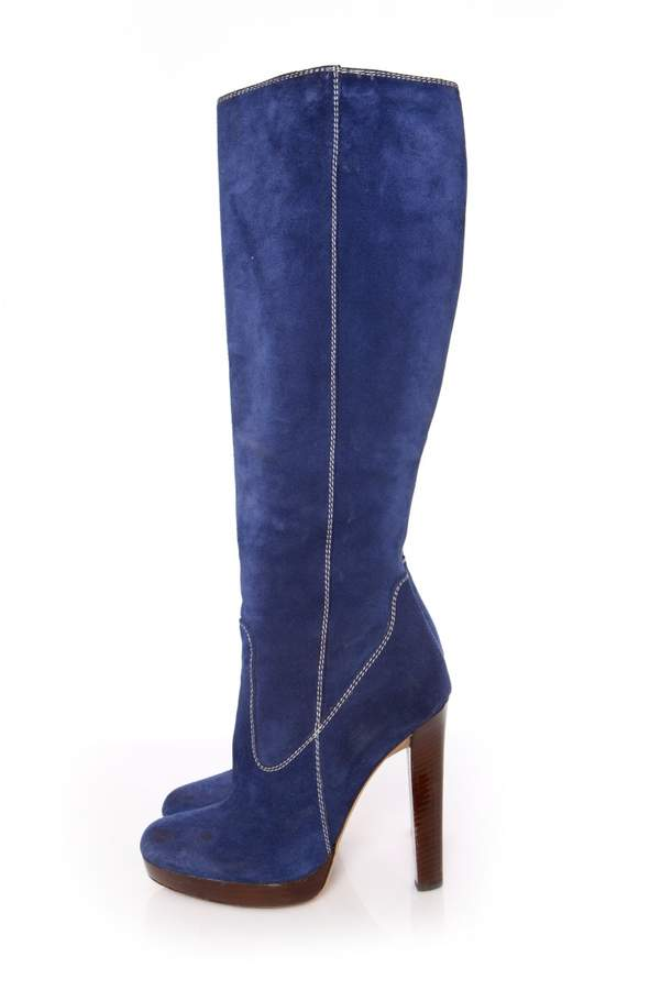 DSQUARED2 Blue Suede Boots