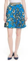Ted Baker Women's Zakai Flower Print Pleated Skirt