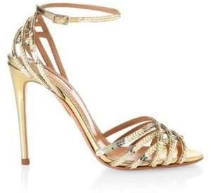 Aquazzura Sequin Trim Studio Stiletto Sandals