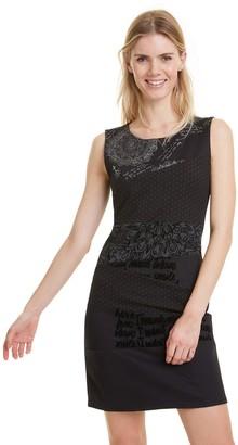Desigual Natalie Short Sleeveless Bodycon Dress in Graffiti Print