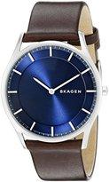 Skagen Men's SKW6237 Holst Dark Brown Leather Watch