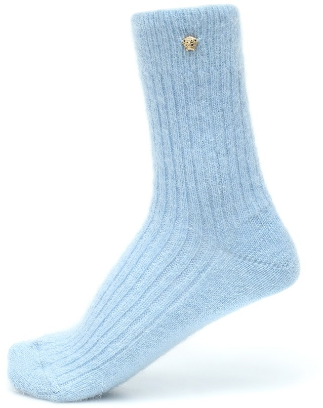 Thumbnail for your product : Versace Exclusive to Mytheresa Mohair-blend socks