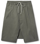 Rick Owens - Pod Coated-cotton Shorts