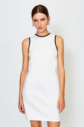Karen Millen Ponte Sleeveless Fitted Dress