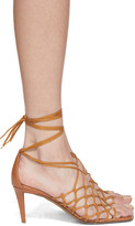 Stella McCartney Brown Lace-Up Heeled Sandals