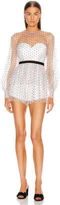 Alice McCall Mysteria Playsuit in Porcelain   FWRD