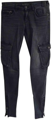 Drykorn Grey Cotton Trousers for Women