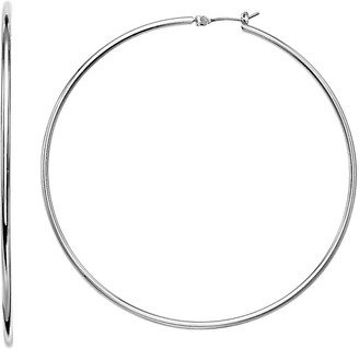 Nine West Large Classic Hoop Earrings