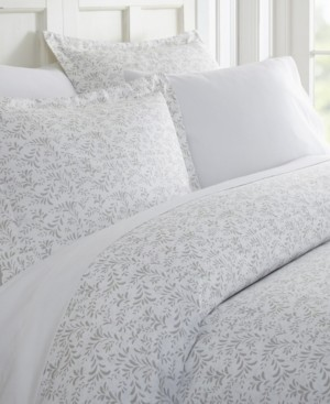 IENJOY HOME Tranquil Sleep Patterned Duvet Cover Set by The Home Collection, King/Cal King Bedding