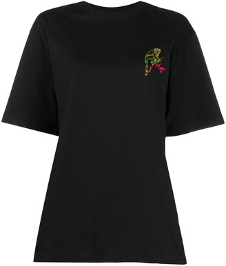 MSGM embroidered-logo T-shirt