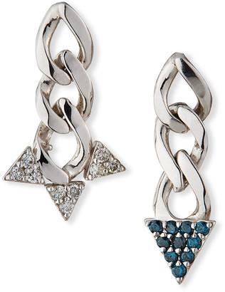 Stevie Wren 14k White Gold Mismatch Diamond Spike Earrings