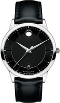 Movado 0606873 1881 Automatic stainless steel and leather watch