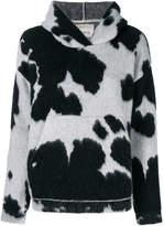 Laneus cow print hoodie