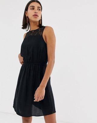 Vero Moda lace insert dress-Black