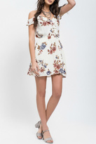 Blu Pepper Floral Ruffle Dress