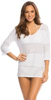 Eco Swim Solid Spliced VNeck Cover Up Tunic - 8135841