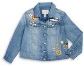 Jessica Simpson Girls 7-16 Girls Patchwork Denim Jacket