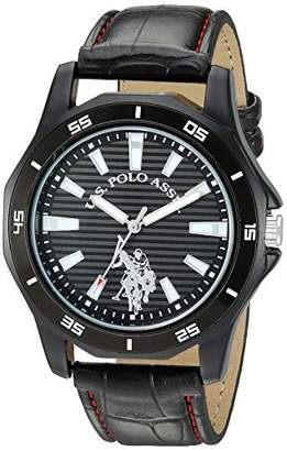 U.S. Polo Assn. Women's Stainless Steel Analog-Quartz Watch with Patent Leather Strap