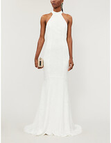 Thumbnail for your product : Whistles Maria halter lace wedding dress