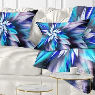 East Urban Home Floral Dancing Light Flower Petals Lumbar Pillow