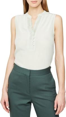 Reiss Cecily Pleat Detail Sleeveless Silk Blouse