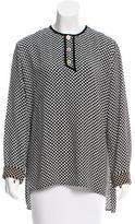 Balenciaga Checkered Button-Up Top