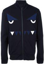 Fendi Bag Bugs zipped sweatshirt