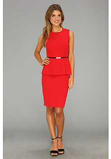 Calvin Klein Lux Sleeveless Peplum Dress