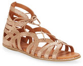 Gentle Souls Break My Heart Foiled Leather Sandals