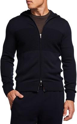 Loro Piana Men's Burton Wish Comfort Zip-Front Hoodie